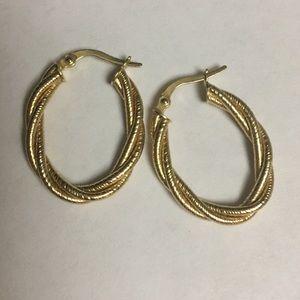 Ruby Lane ✨ Vintage 14k Gold Oval Earrings